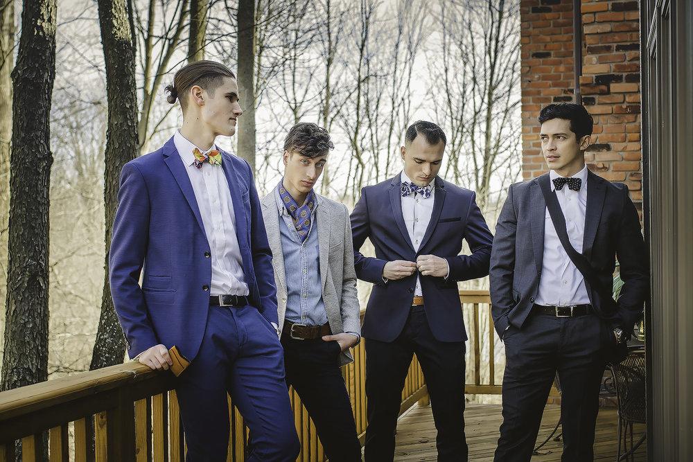 Models: Kevin Heslip,Alexander Kepreos, Benjamin Casaceli &Marko Carrillo