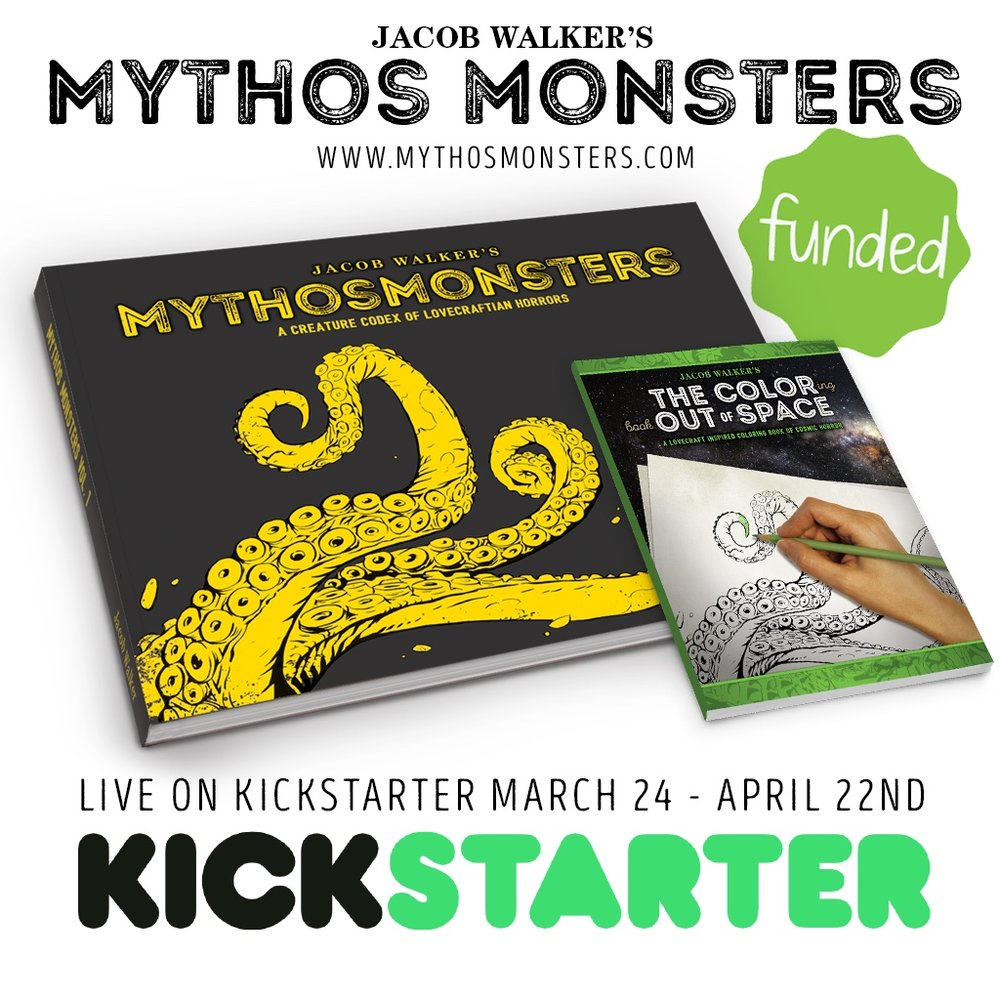 Kickstarter Graphic - mythos monsters