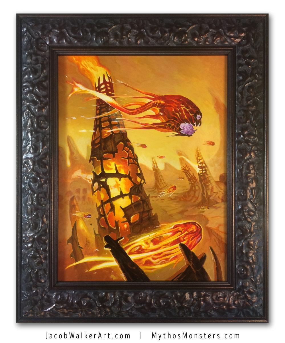 Fire Vampire framed