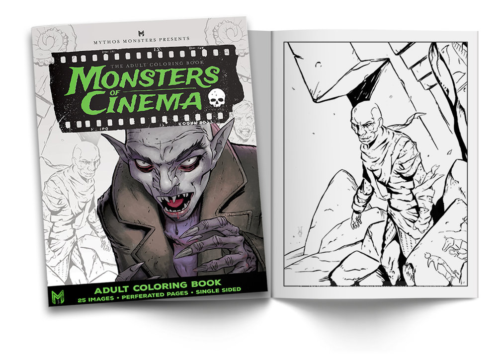 Monsters of Cinema Coloring Book