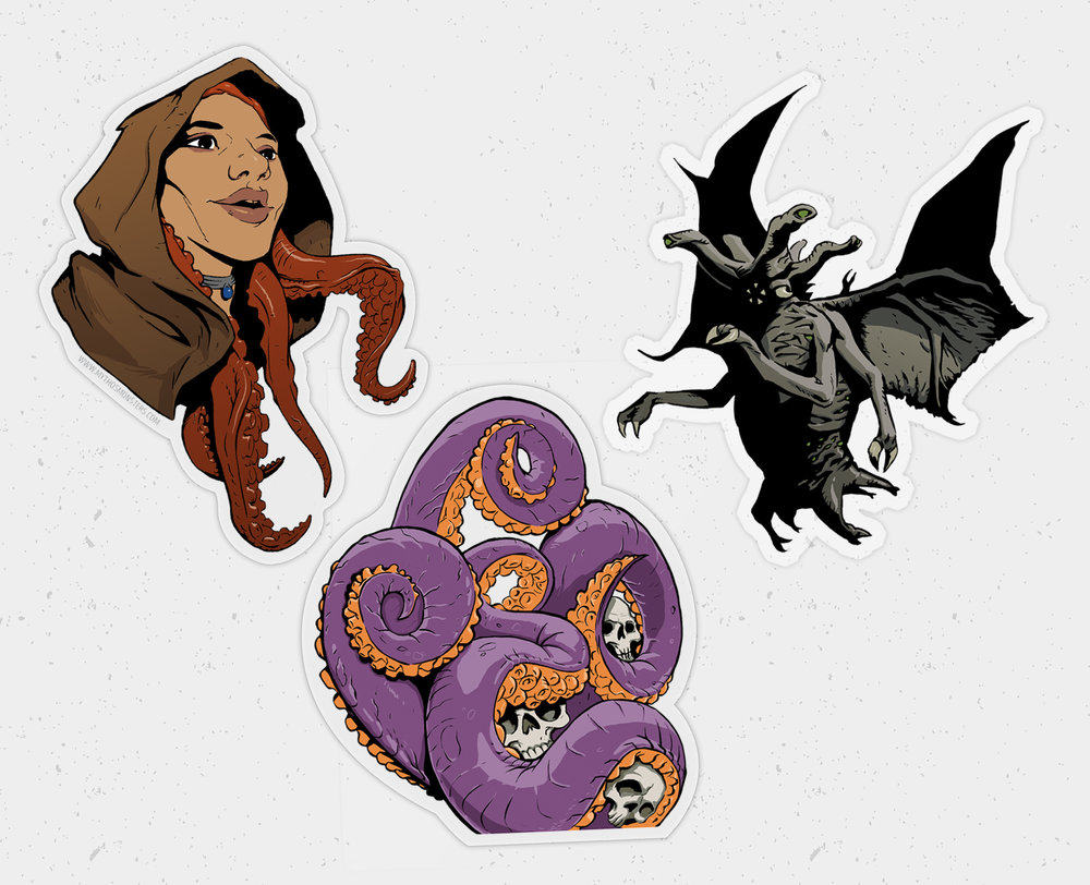 $9  Stuck On Eldritch Sticker 3 Pack