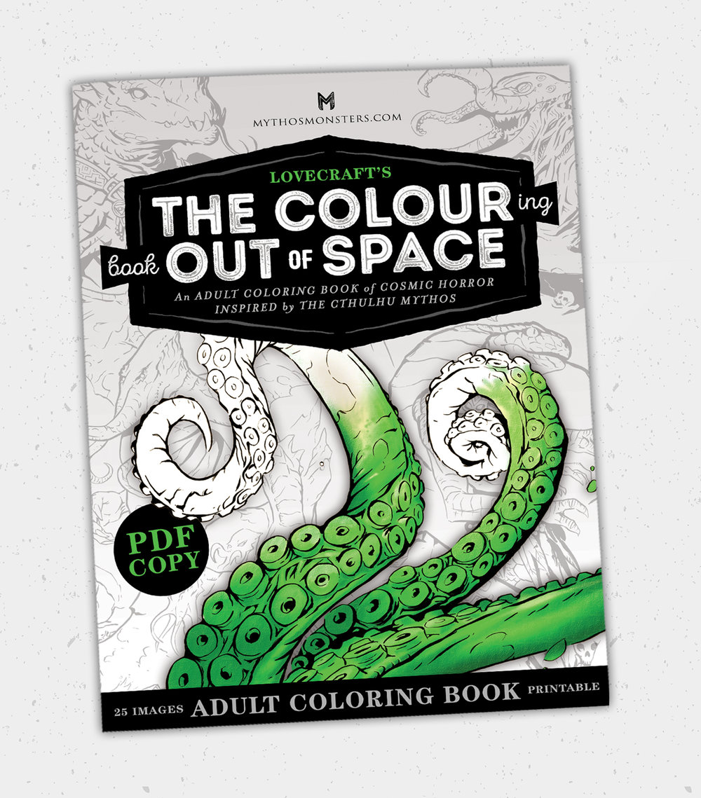 $7.99   The Colouring Book Out of Space Printable PDF,  Digital Download only