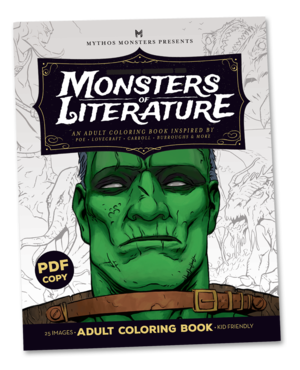 MoL Digital Cover Monsters Of Literature Coloring Book 599