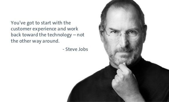 ستيف جوبز عن تجربة العملاء