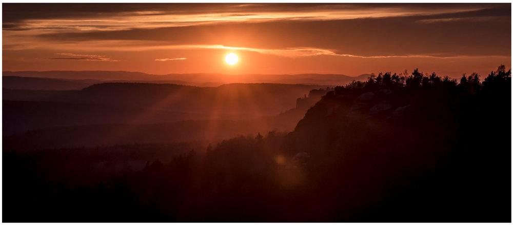 Een zonsondergang uit mijn dromen.