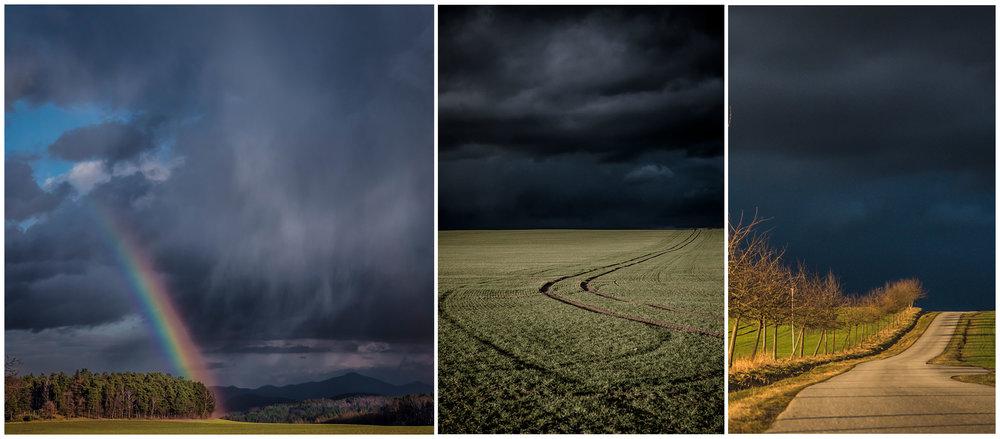 Stormchasing over het Oost-Duitse platteland. Wat een traktatie om zo dicht bij een regenboog te kunnen staan, droog, terwijl het nog geen 500 meter bij je vandaan met bakken uit de hemel komt.