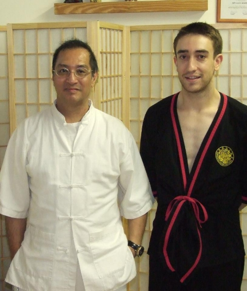 A photo after Sifu Leung Ting did four interviews for Crescent Street Films in my school in 2008.  These interviews are still available on YouTube, just visit https://www.youtube.com/user/csf1lms.  Apparently my one week with him was a really looooooooong week that stretched from 2002-2011...