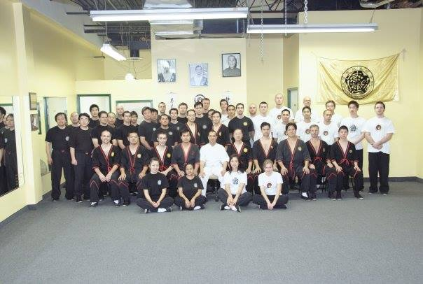 Amazing Stats: Six people in this photo are still with the IWTA!  Six! At another seminar and instructor class with Sifu Leung Ting, this time in Toronto 2007.  Please note that of the NINE sifu-level instructors seated in the row with Sifu Leung Ting, SEVEN of them left the IWTA voluntarily.