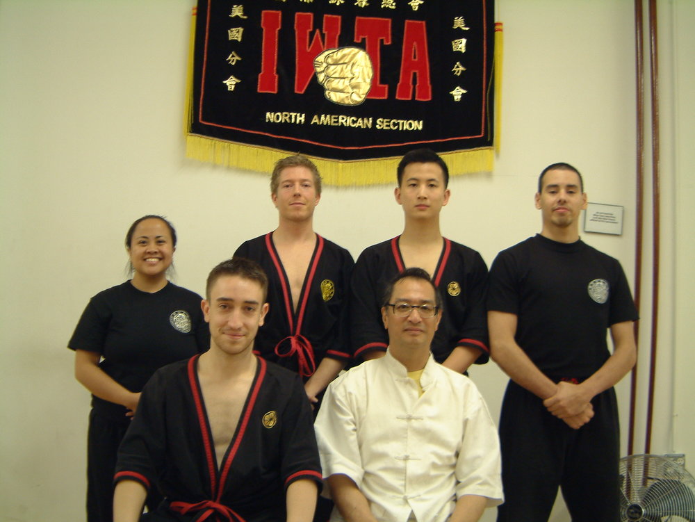NYC instructor class 2005 or 2006.  Who is that seated next to Sifu Leung Ting?  That guy looks familiar!  This must be day 2.5 of my one week of training with him!