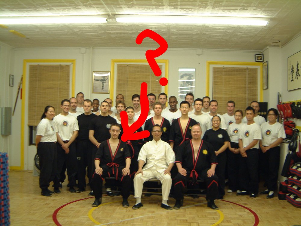 Maybe this is day 3.2 of my one week learning from Sifu Leung Ting.  Anyone else notice how I skillfully and carefully deleted an ex-student from the picture?  The IWTA should hire me to delete ex-members.