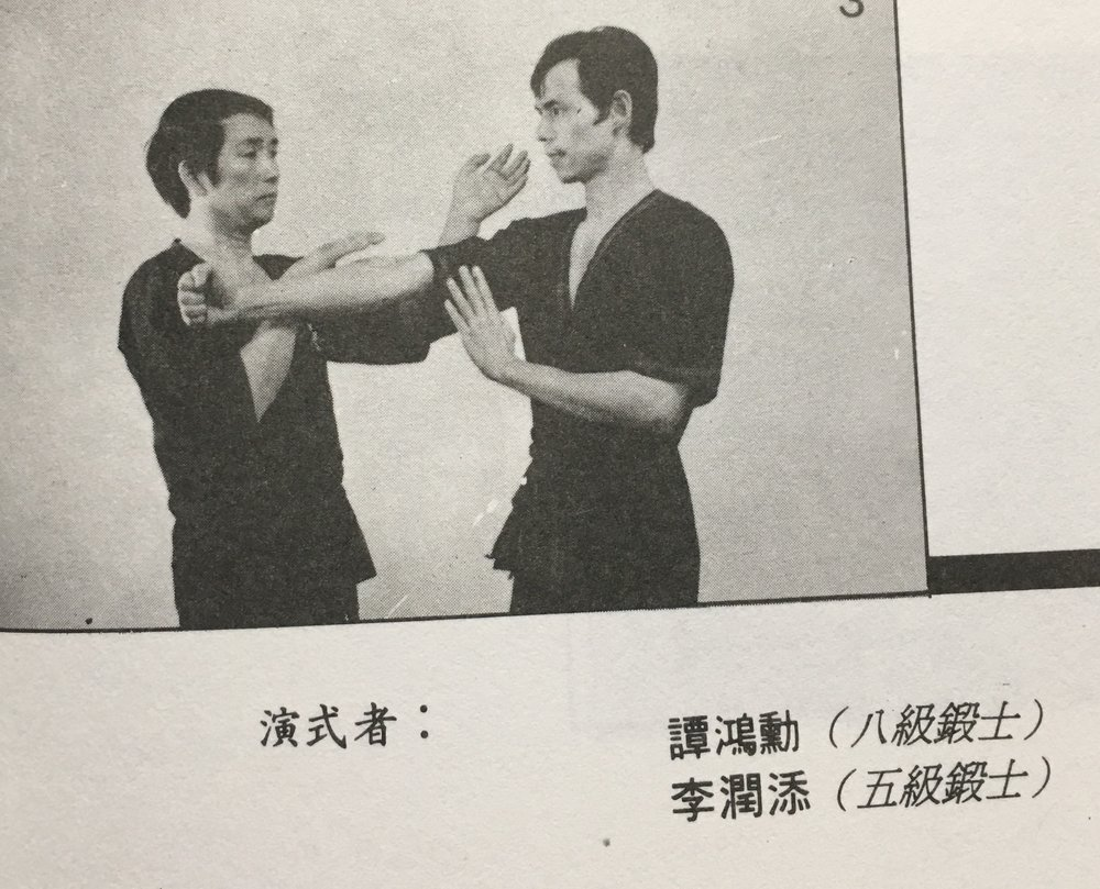 "This photo is from the Chinese edition of Mr. Leung Ting's ""Wing Tsun Kuen"" book.  It states that Tam Hung Fun is an 8th Level Practician, the highest master level before becoming a grandmaster."