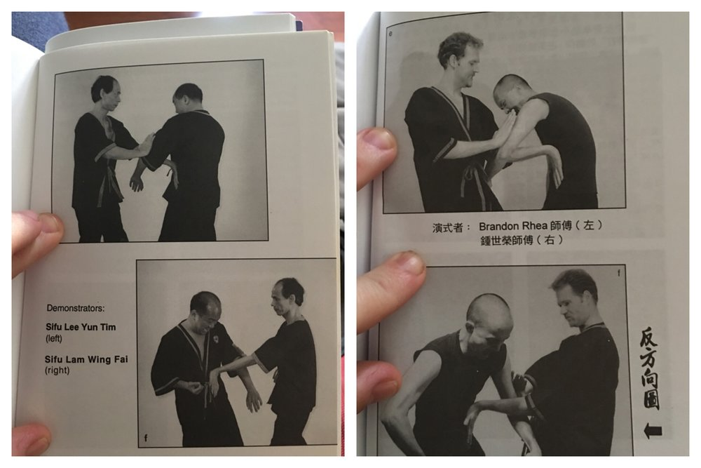 Here Sifu Lee Yun Tim (left side) magically disappears from Mr. Leung Ting's Siu Nim Tau book.  This is really quite commonplace these days.  If Mr. Leung Ting goes through the brutal effort of re-editting his books, it goes to show that he can and will do anything to discredit and erase ex-members.