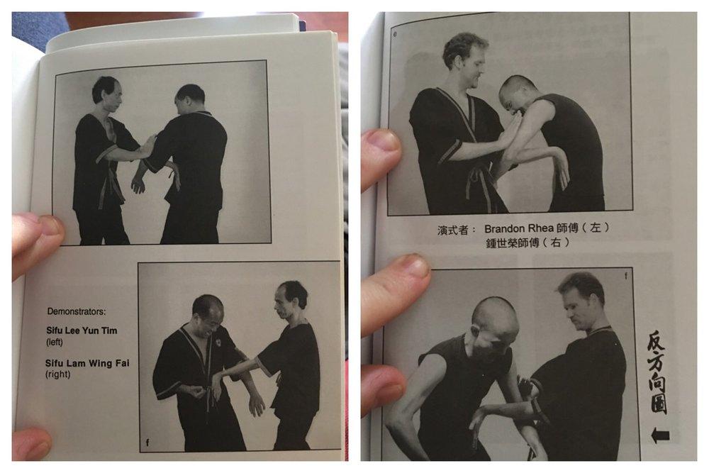 Sifu Lee Yun Tim (links) verschwindet auf magische Weise von Herr Leung's  Siu Nim Tau  Buch. Das ist jetzt Alltag geworden. Indem Herr Leung sich die Muehe macht, seine Buecher neu zu editieren, zeigt er, dass er nichts auslaesst, um Ex Mitglieder auszuloeschen und zu diskreditieren.