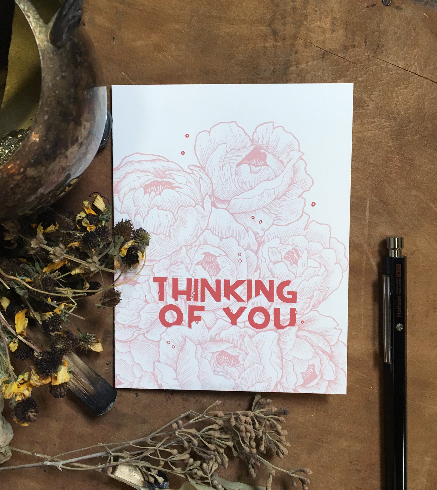 Thinking Of You Floral Greeting Card Tenderheart Studio