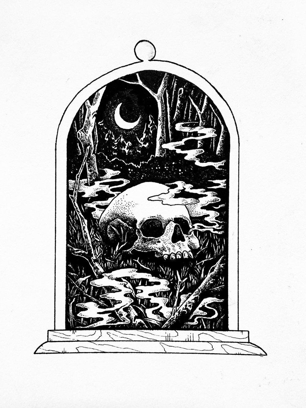 Inktober Into the Dark Woods Bell Jar.JPG