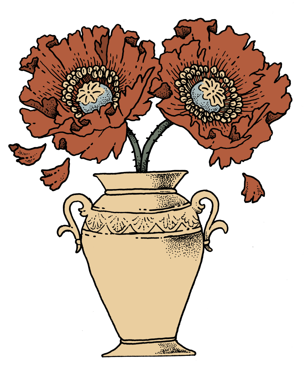 Burial Poppies Death Urn