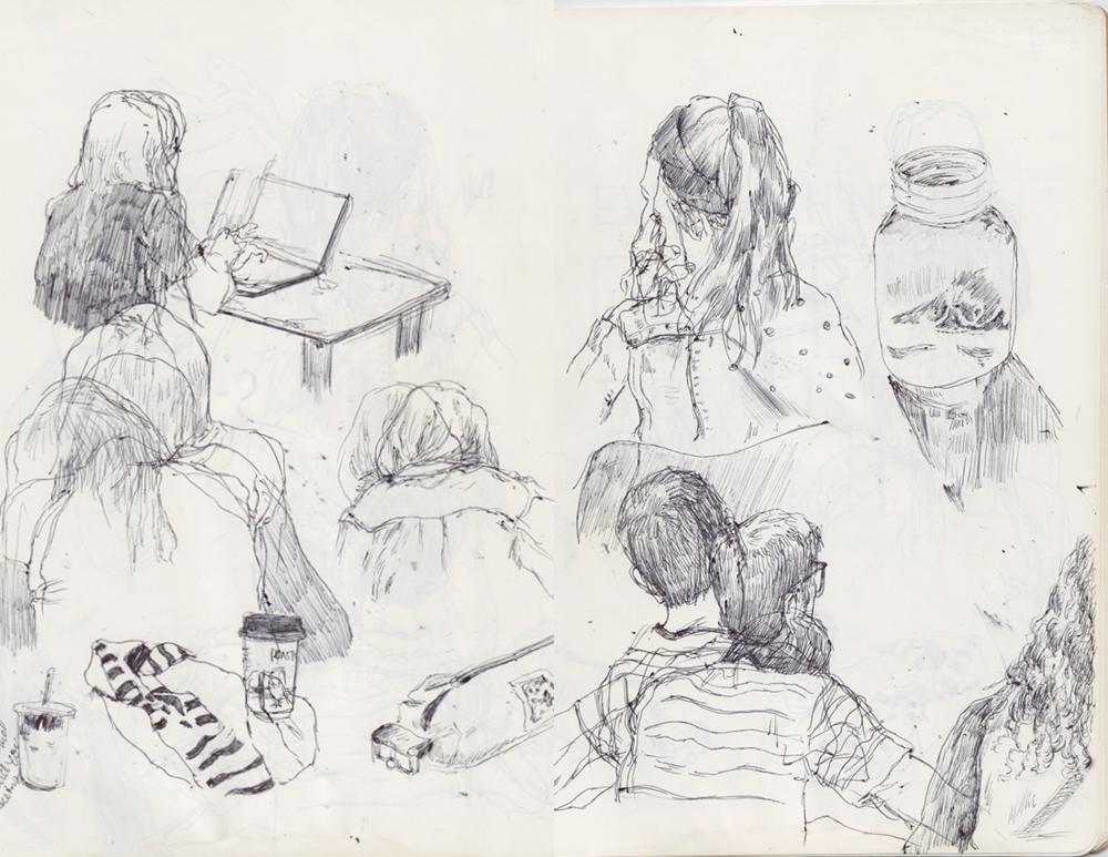 Sketchbook Spread Kendall Quack