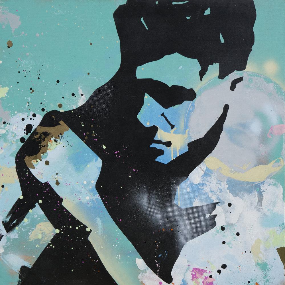 'EAST END SPAR I' 78CM x 78CM Spraypaint on canvas £2500