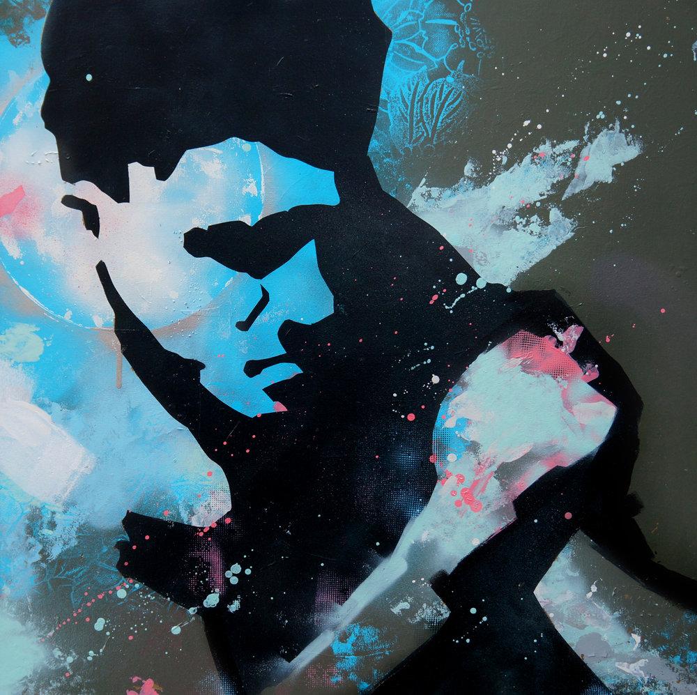 'EAST END SPAR II' 78CM x 78CM Spraypaint on canvas £2500