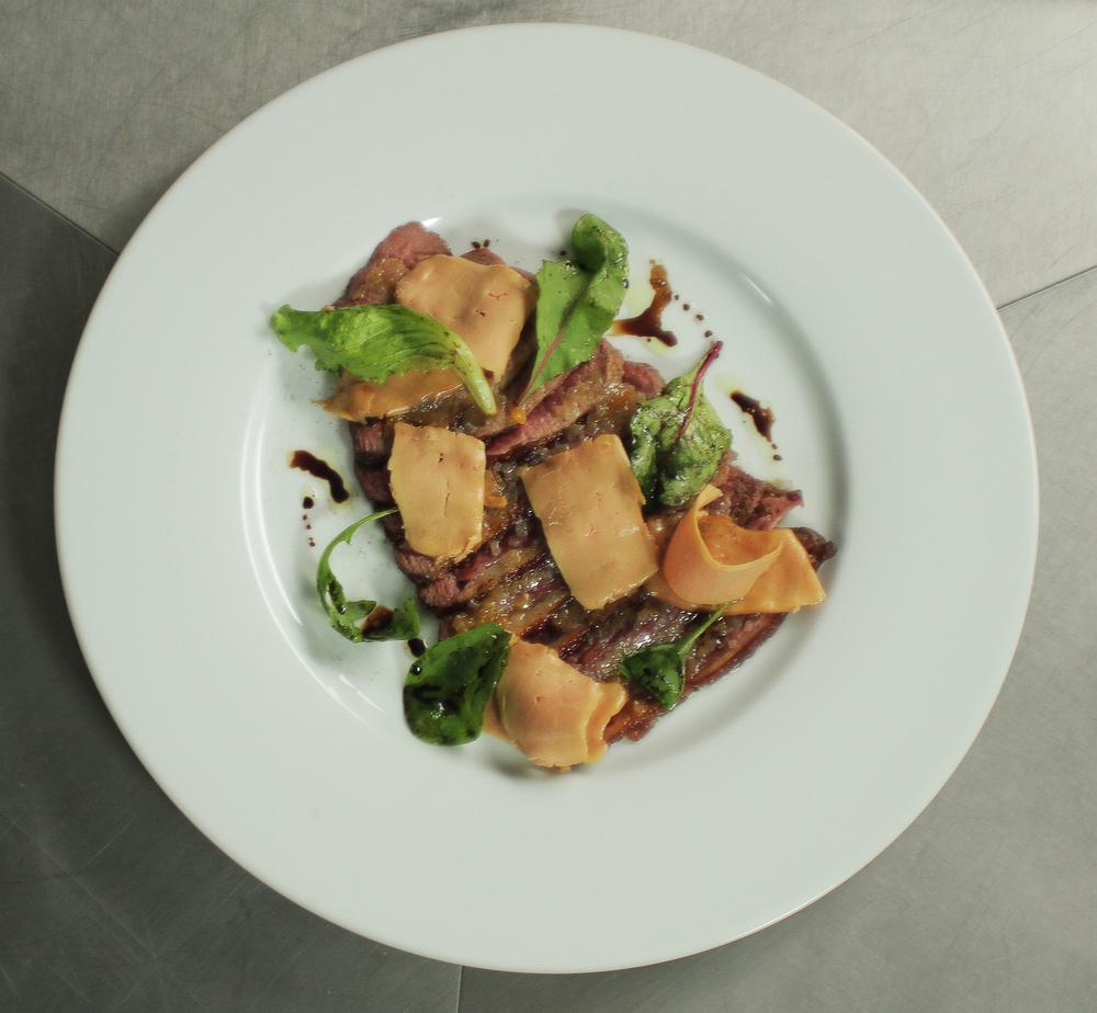 carpaccio de canard mi-cuit - entrée foie gras.JPG