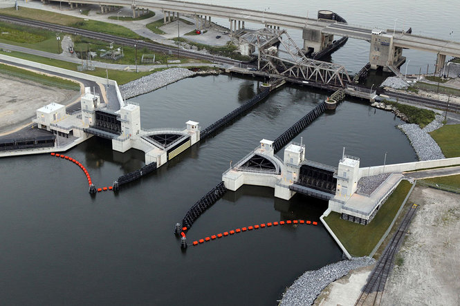 City of New Orleans Seabrook Floodgate Closure    Seabrook Floodgate  . Digital image.   US Army Corps of Engineers New Orleans District  . US Army Corps of Engineers, n.d. Web.