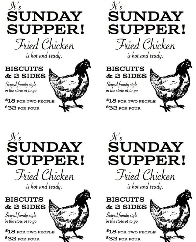 No plans tonight? Bring the family in for Sunday Supper! #sundaysupper