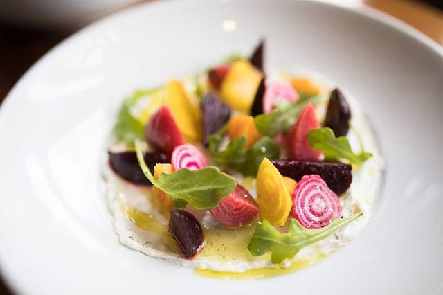 The colorful beet salad makes for the perfect #lightbite