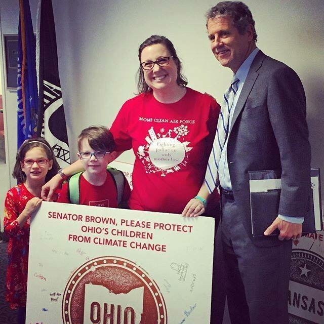 Laura with Senator Sherrod Brown (D) from Ohio.