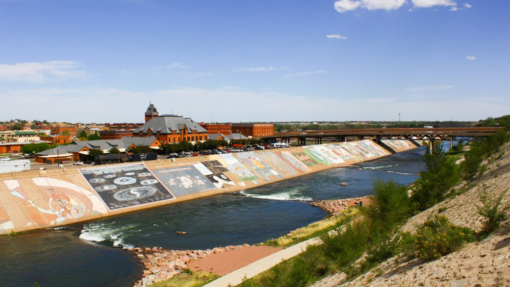 The mural along the Arkansas River near Azaria's house.