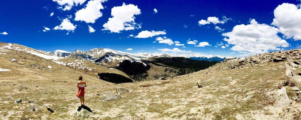 Azaria hiking.