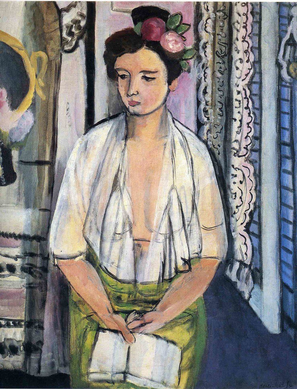 Reader on a black background  Henri Matisse, 1918
