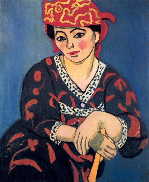 Madame Matisse, The Red Madras Headdress  Henri Matisse, 1907