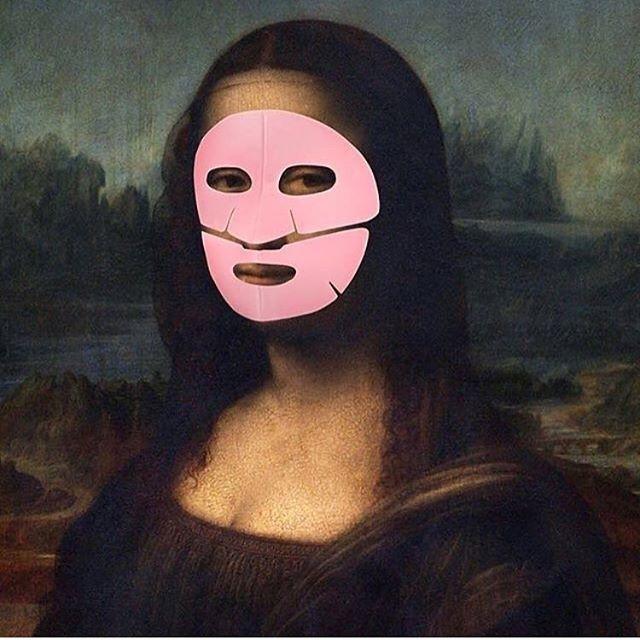 Lol @memebox  #staypretty #vitamasques #monalisa #art #mask