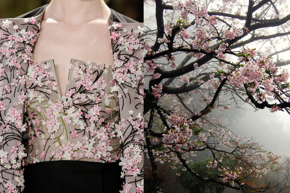 Match #298  Details at Christian Dior Haute Couture Spring 2013 | Cherry blossoms photographed by WILLIAM LAI in Taiwan
