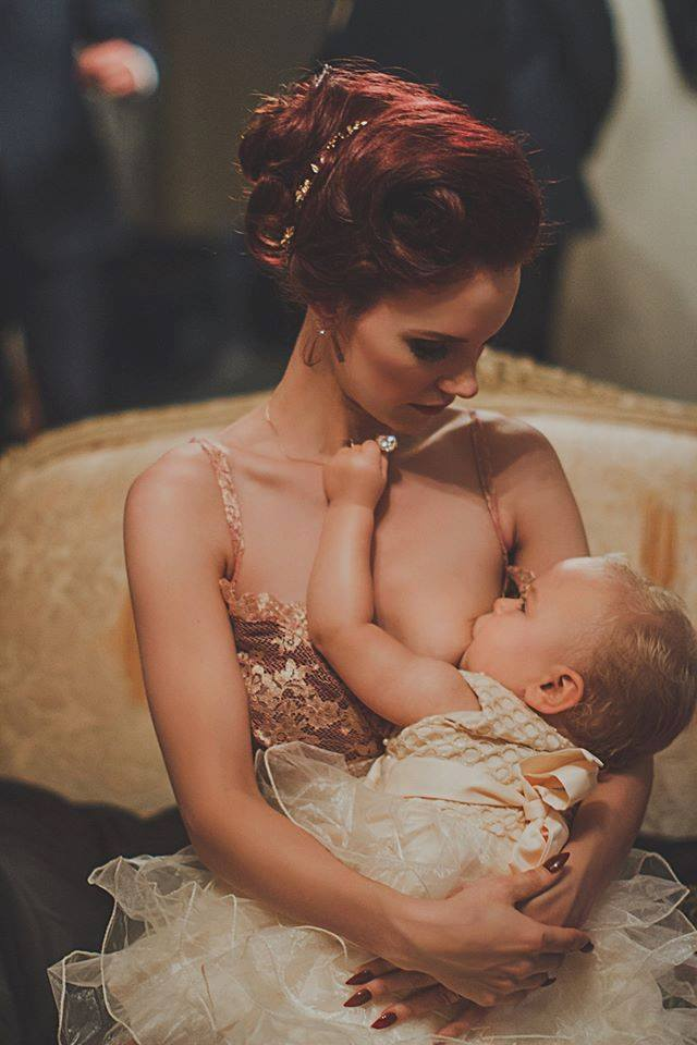 Mine is a little different than the rest here, but it means a lot. It's an image of my friend/bride breastfeeding her baby in her wedding dress. It meant a lot to her and it meant a lot to me that I can showcase a beautiful moment on such a special day. Motherhood takes no breaks, even on your wedding day! -  Kathryn Stabile