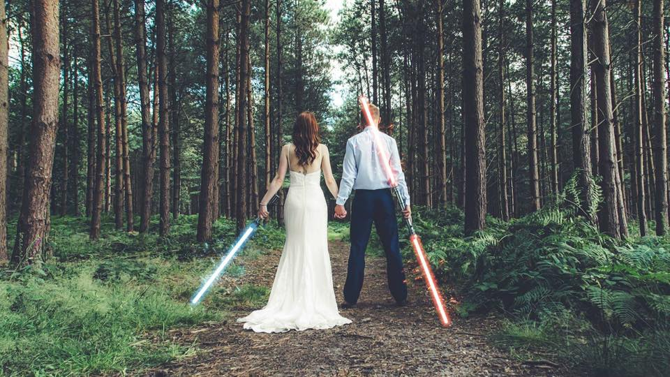 This is my favourite shot of the year.  Two different people coming together; the light side, the dark side. She's a Disney princess and he's a Comic book geek.   I captured this shot earlier this year, two of the most wonderful people I know and they are finally married. It's always an honour to photograph those special people who you admire! #love -  Francesca Hughes