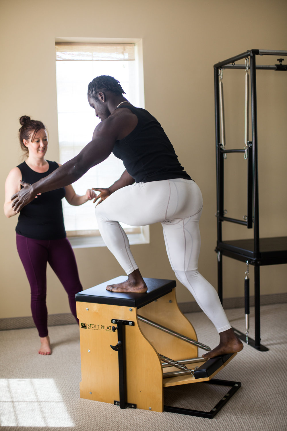 """The Pilates chair—or """"wunda chair,"""" as Joseph Pilates called it—is a powerful piece of exercise equipment. Its small size belies its remarkable ability to build core stability, upper-body strength and lower-body power to improve performance in athletes, retrain the body after injury and increase overall physical conditioning. Although it's been part of the Pilates system for many years, the chair is currently experiencing a new level of interest as a great tool for teaching clients either individually or in small groups."""