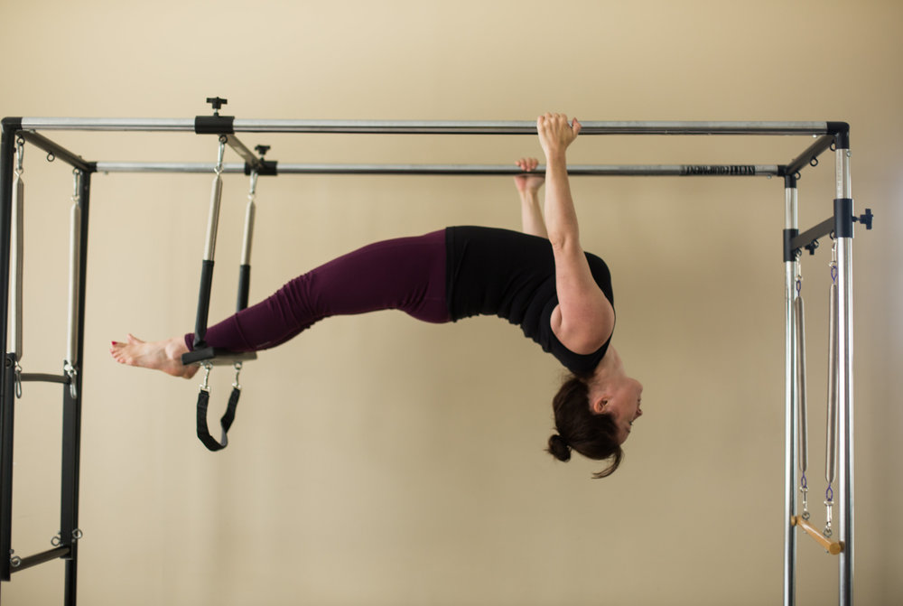 The Cadillac or the Trapeze Table supports fitness for all ages and abilities. An extraordinary variety of exercises are possible - from gentle, spring-assisted sit-ups to advanced acrobatics. The Cadillac springs make you reach, stretch and work a little or a lot more. Feel new muscle work while strengthening arms, legs and your midsection.