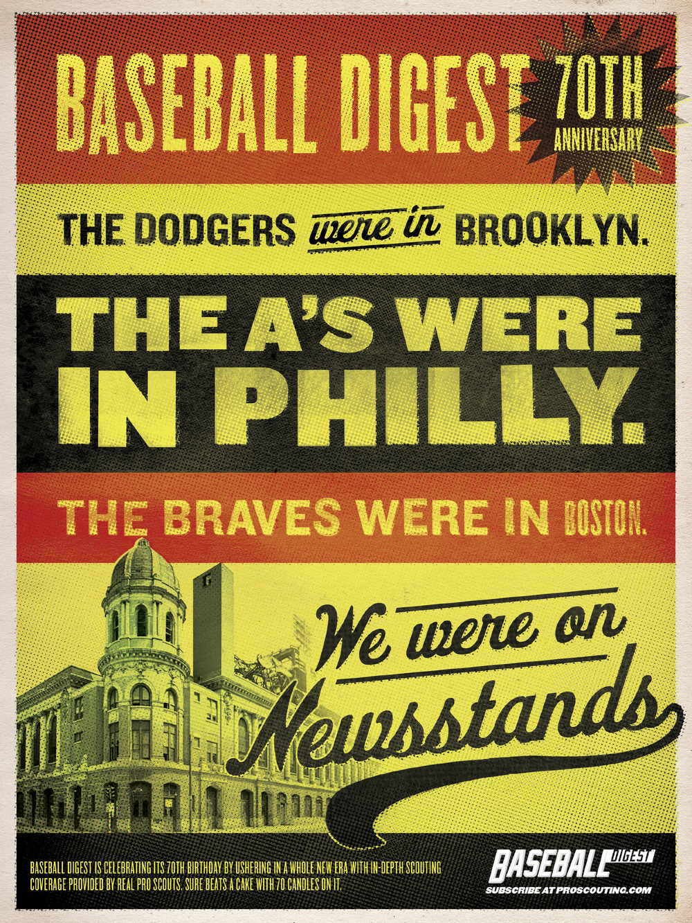 Baseball Digest Print