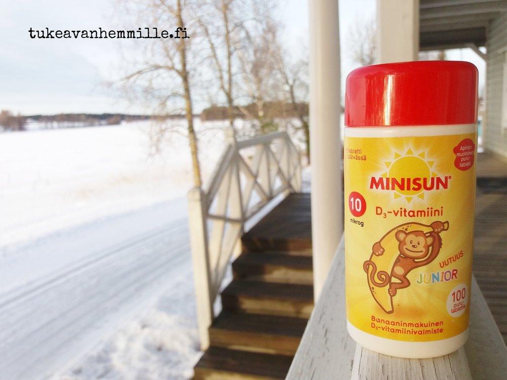 Tähän aikaan vuodesta, kun D-vitamiinin puute on pahimmillaan, niin lisää potkua haetaan purkista, mutta aina kun aurinko pilkahtaa esille, niin ulos on pakko lähteä nauttimaan luonnon omasta D-vitamiinista!