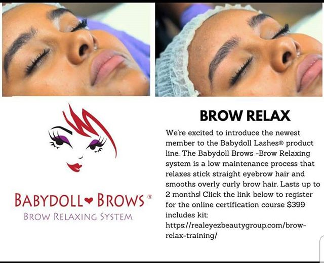 *NEW*  BROW RELAX PROCEDURE  Easy Online Training & Certification for Estheticians & Cosmetologists. Link in bio. #babydollbrows #babydolllashes #browrelax #browrelaxer #eyebrows #microblading #lashlift #realeyezbeautygroup #realeyezbeauty