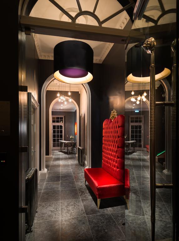 hallway dark interior design