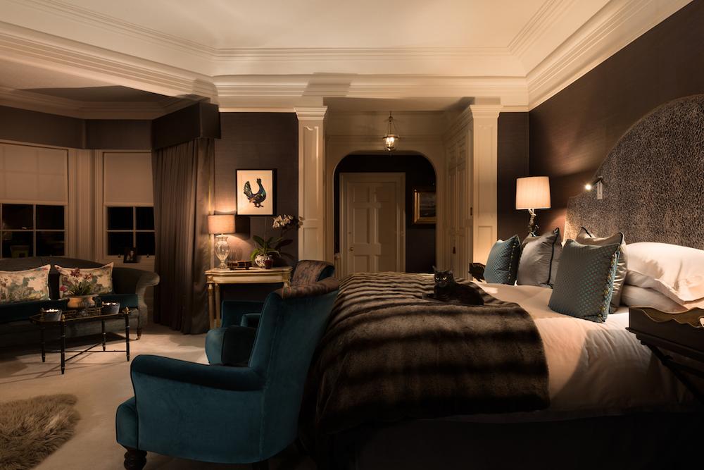 bedroom interior design dark Edinburgh