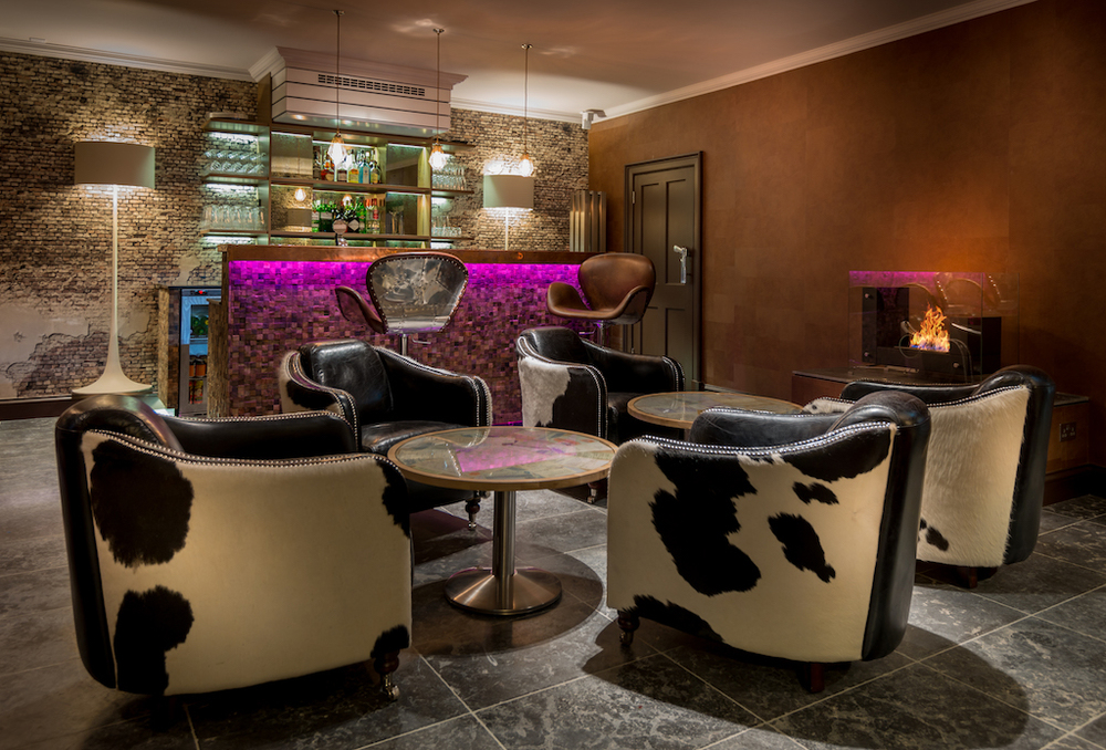 cow print chairs interior design Edinburgh