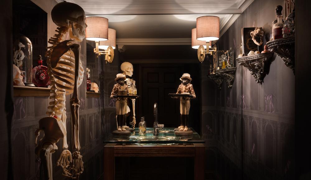 skeletons gothic interior design