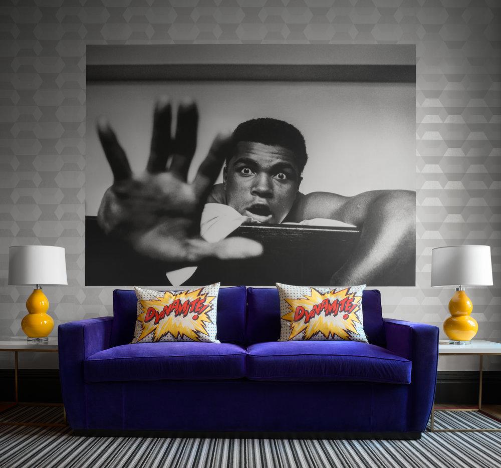 Muhamad Ali interior design, Rutland Apartments, Edinburgh