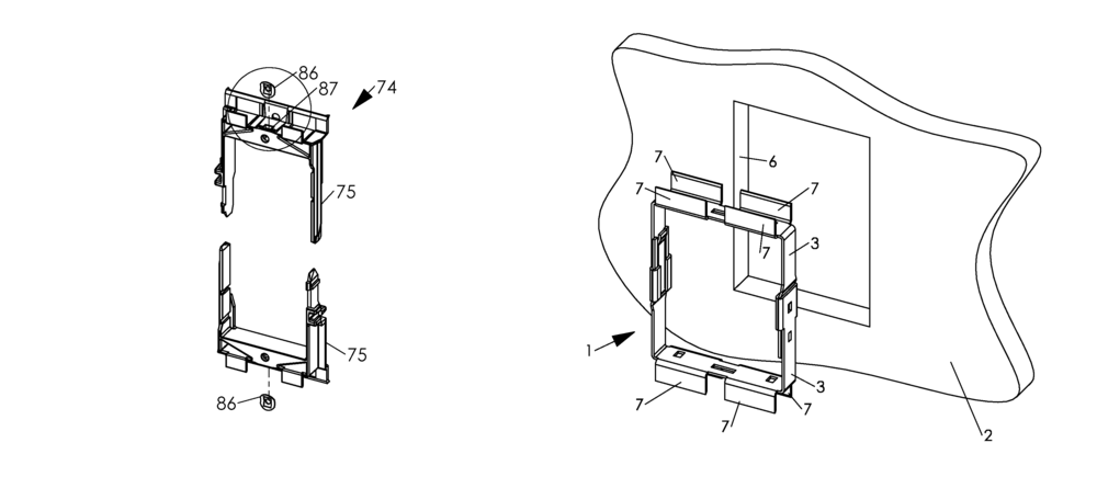 Wall mounting apparatus and method-both.png