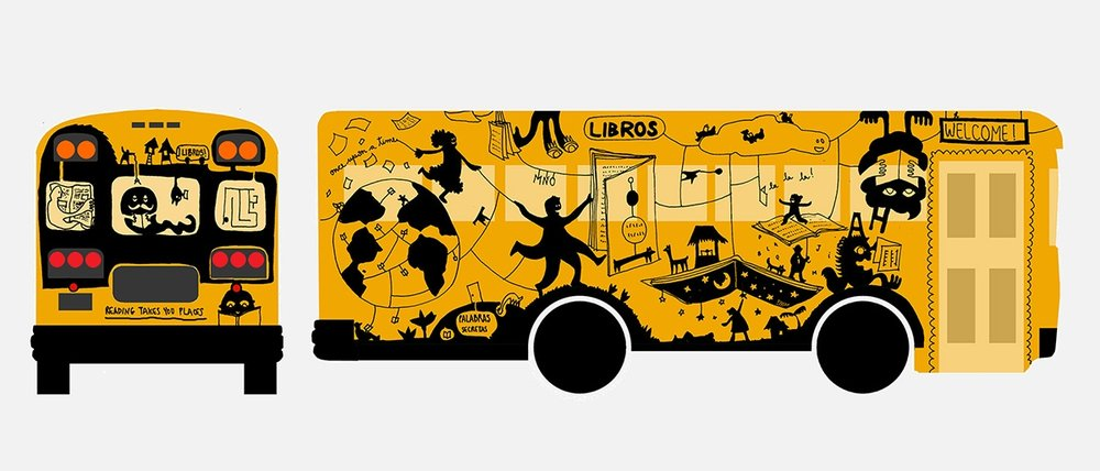 ILLUSTRATION OF   MOBILE LIBRARY for the nobelity project