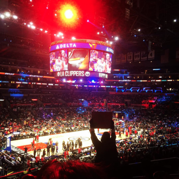 2015 :: Staples Center - DTLA :: Through work I got free VIP Clippers tickets and the seats came with a waiter, which was awesome because I was high AF and wearing stilettos.