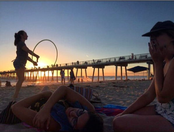 2015 :: Hermosa Beach:: My 22nd birthday vibing out with my Team Smell Good homies